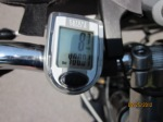Bicycle odometer hit the 400 mile mark for the trip